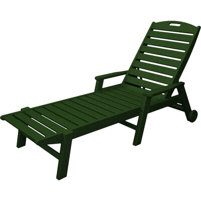 Nautical Chaise Lounge with Arms Finish: Green