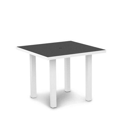 Euro Dining Table Finish: Textured White Aluminum Frame / Slate Grey