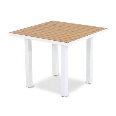 Euro Dining Table Finish: Textured White Aluminum Frame / Plastique