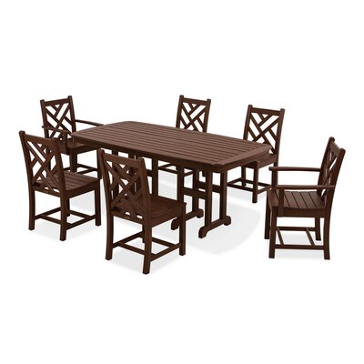 Chippendale 7 Piece Dining Set Finish: Mahogany
