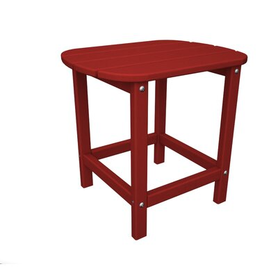 South Beach Side Table Finish: Sunset Red, Table Size: 26
