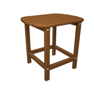 "South Beach Side Table Finish: Teak, Table Size: 26"" H"