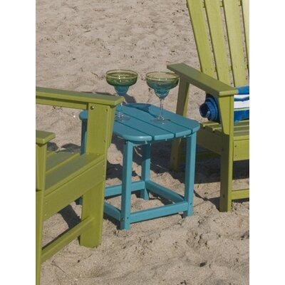 South Beach Side Table Finish: Aruba, Table Size: 18