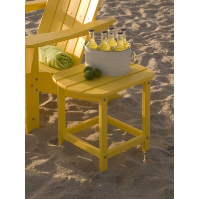 South Beach Side Table Finish: Lemon, Table Size: 18