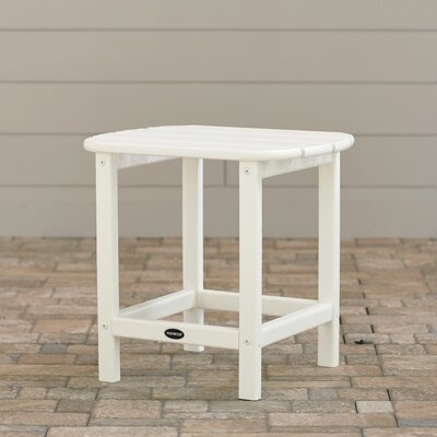 South Beach Side Table Finish: White, Table Size: 18