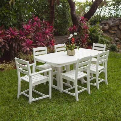 La Casa Cafe 7 Piece Dining Set Finish: White