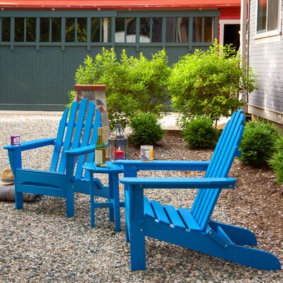 Classic 3 Piece Adirondack Seating Group Frame Finish: Pacific Blue