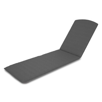 Outdoor Sunbrella Chaise Lounge Cushion Fabric: Charcoal