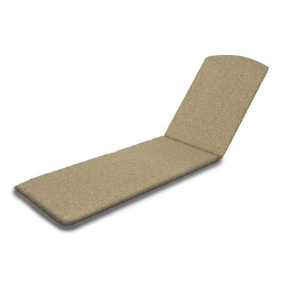 Outdoor Sunbrella Chaise Lounge Cushion Fabric: Sesame