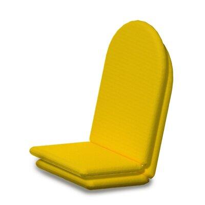 Outdoor Sunbrella Full Adirondack Chair Cushion Fabric: Sunflower Yellow