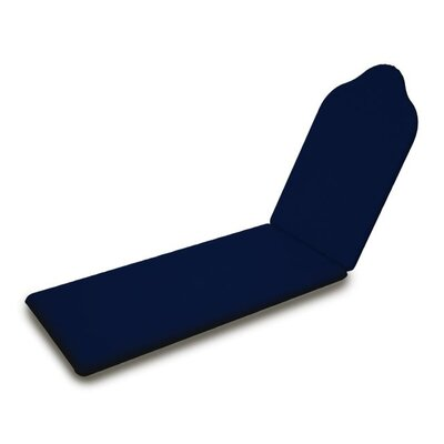 Outdoor Sunbrella Chaise Lounge Cushion Fabric: Navy