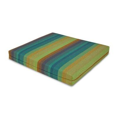 Outdoor Sunbrella Barstool Cushion Fabric: Astoria Lagoon