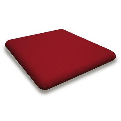 Outdoor Sunbrella Dining Chair Cushion Fabric: Logo Red