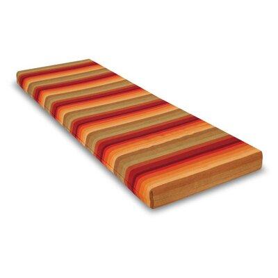 Outdoor Sunbrela Bench Cushion Size: 2.5 H x 55 W x 17.5 D, Fabric: Astoria Sunset