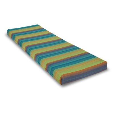 Outdoor Sunbrela Bench Cushion Size: 2.5 H x 55 W x 17.5 D, Fabric: Astoria Lagoon