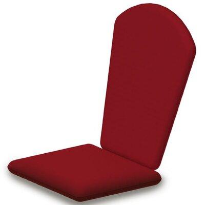 Outdoor Sunbrella Adirondack Chair Cushion Fabric: Logo Red