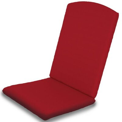 Outdoor Sunbrella Dining Chair Cushion Fabric: Logo Red
