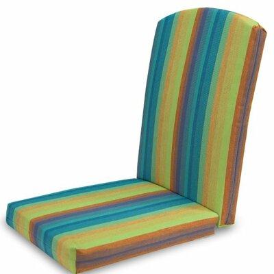 Outdoor Sunbrella Dining Chair Cushion Fabric: Astoria Lagoon