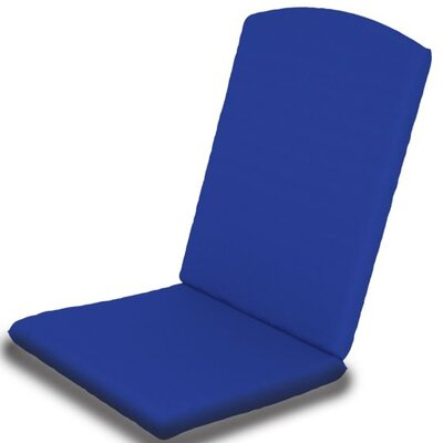 Outdoor Sunbrella Dining Chair Cushion Fabric: Pacific Blue
