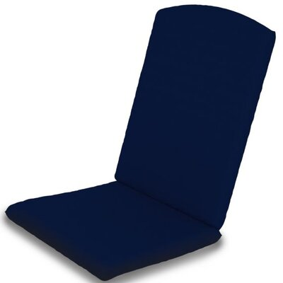 Outdoor Sunbrella Dining Chair Cushion Fabric: Navy