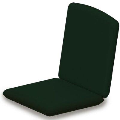 Outdoor Sunbrella Dining Chair Cushion Fabric: Forest Green