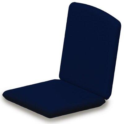 Outdoor Sunbrella Dining Chair Cushion Fabric: Navy