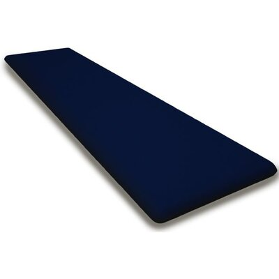 Outdoor Sunbrella Bench Cushion Fabric: Navy