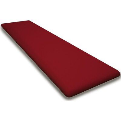 Outdoor Sunbrella Bench Cushion Fabric: Logo Red