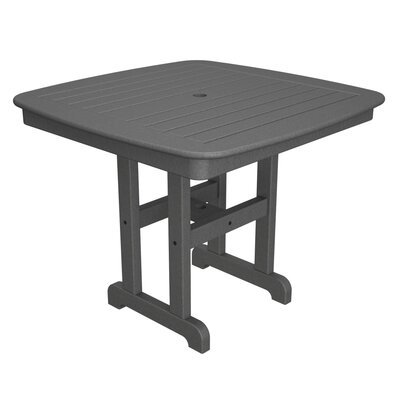 Nautical Square Dining Table Table Size: 37, Finish: Slate Grey