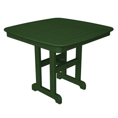Nautical Square Dining Table Finish: Hunter Green, Table Size: 37