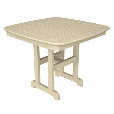 Nautical Square Dining Table Finish: Sand, Table Size: 44