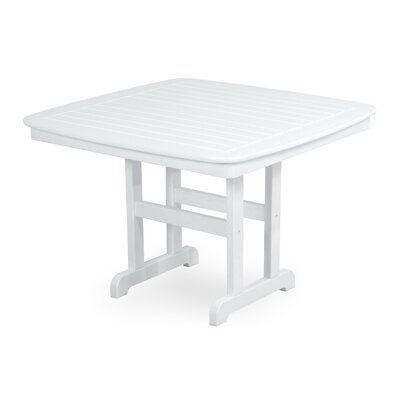 Nautical Square Dining Table Finish: White, Table Size: 44