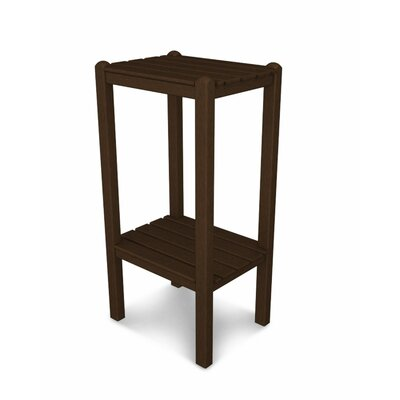 Two Shelf Bar Height Side Table Finish: Mahogany