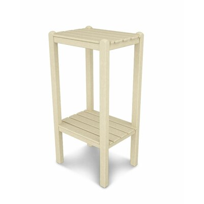 Two Shelf Bar Height Side Table Finish: Sand