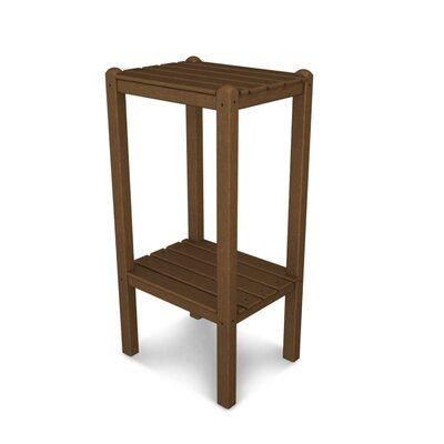 Two Shelf Bar Height Side Table Finish: Teak