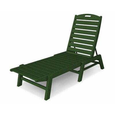 Nautical Chaise Lounge  Finish: Green