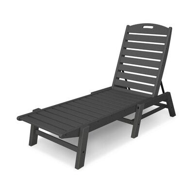 Nautical Chaise Lounge  Finish: Slate Grey