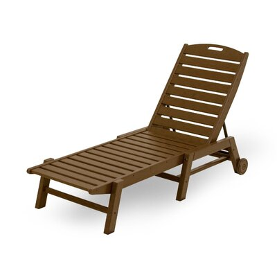 Nautical Chaise Lounge Finish: Teak
