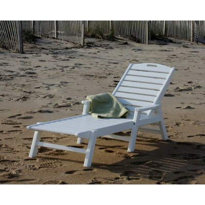 Nautical Chaise Lounge Finish: White