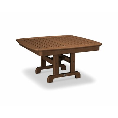 Nautical Chat Table Finish: Teak, Table Size: 44""