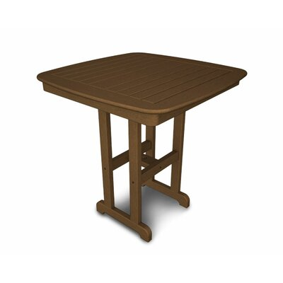 Nautical Bar Table Finish: Teak, Table Size: 37""