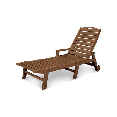 Nautical Chaise Lounge with Arms Finish: Teak