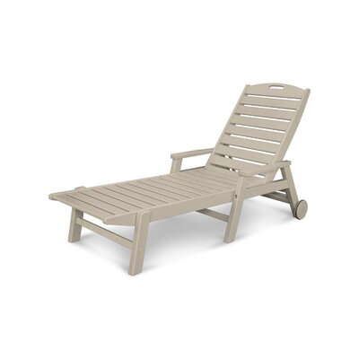 Nautical Chaise Lounge with Arms Finish: Sand