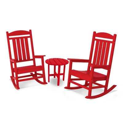 Presidential 3 Piece Rocker Seating Group Finish: Sunset Red