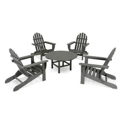 Adirondack 5 Piece Set Finish: Slate Grey