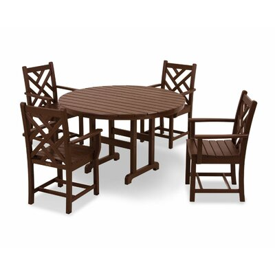 Chippendale 5 Piece Dining Set Finish: Mahogany