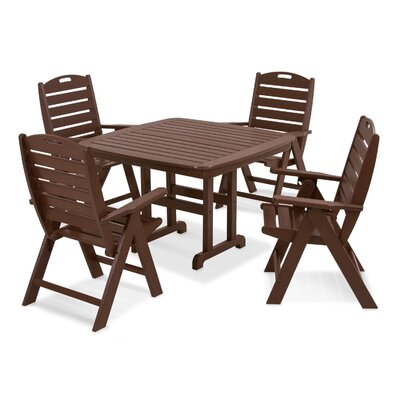 Nautical 5 Piece Dining Set Finish: Mahogany