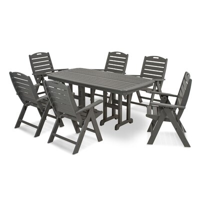 Nautical 7 Piece Dining Set Finish: Slate Grey