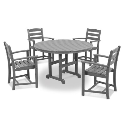 La Casa Cafe 5 Piece Dining Set Finish: Slate Grey