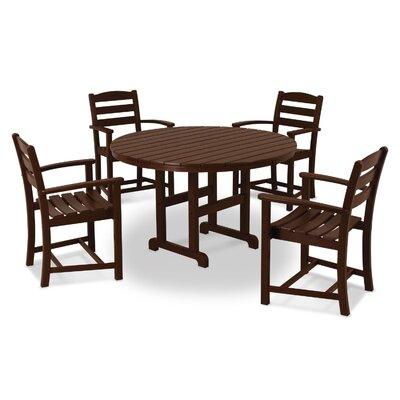 La Casa Cafe 5 Piece Dining Set Finish: Mahogany